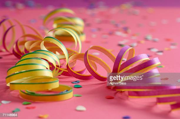 Party streamers, close-up