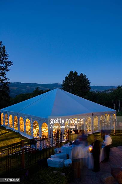 Party Tent with Blue Dusk Light