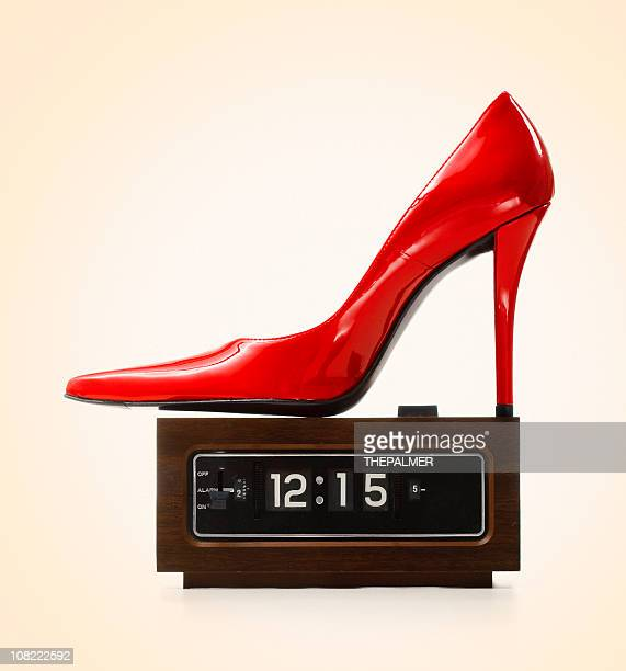 party time - red shoe stock pictures, royalty-free photos & images