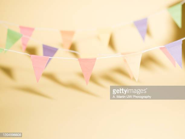party time - bunting stock pictures, royalty-free photos & images
