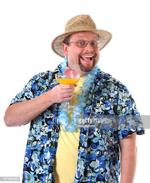 party time - hawaiian shirt stock photos and pictures
