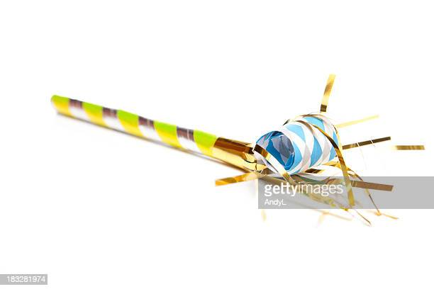 party time - party blower stock pictures, royalty-free photos & images