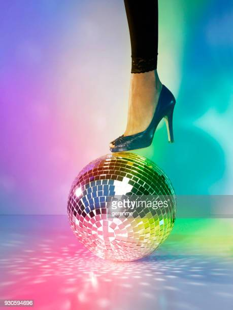 party time - female foot models stock pictures, royalty-free photos & images
