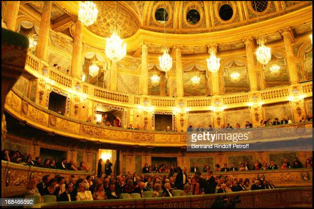 """Party to the benefit of the artworks of the Sovereign Order of Malta in Lebanon at the Royal opera of the """"Chateau De Versailles""""."""