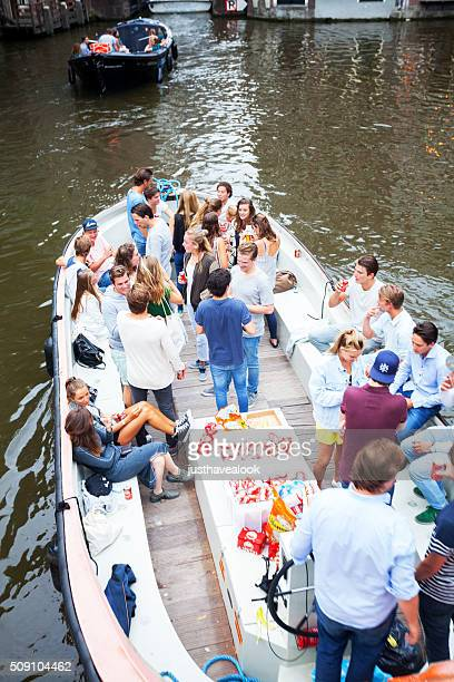 Party tourboat in Amsterdam