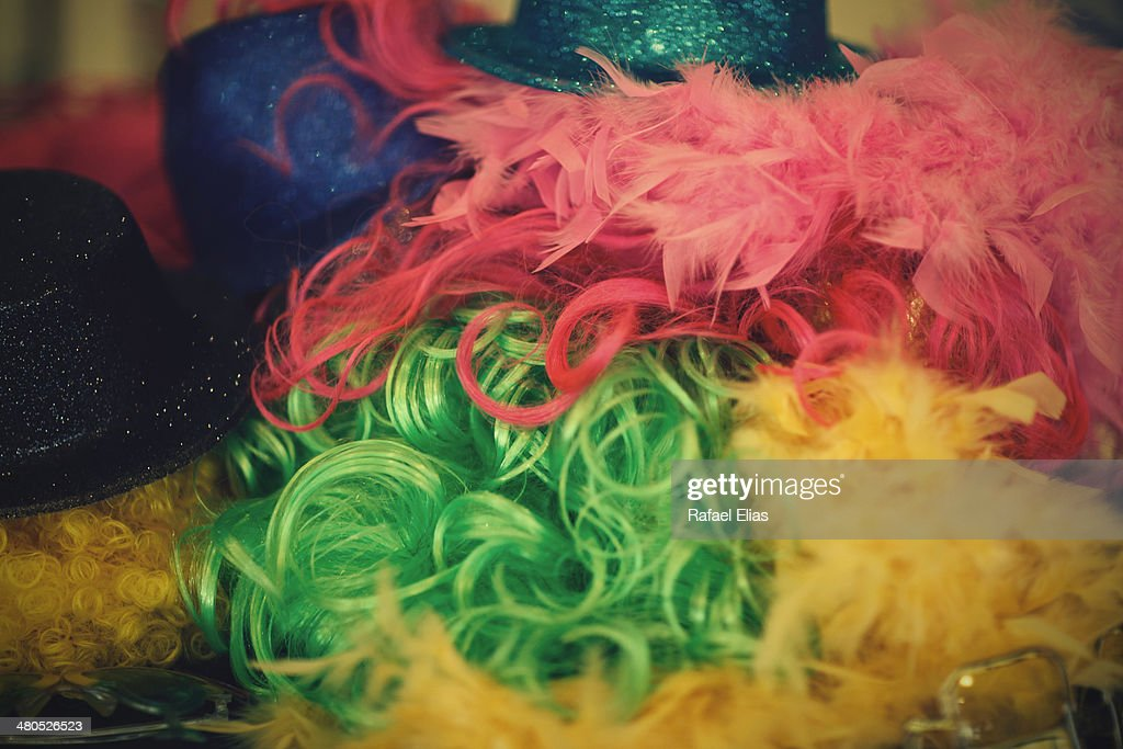 Party wigs : Stock Photo