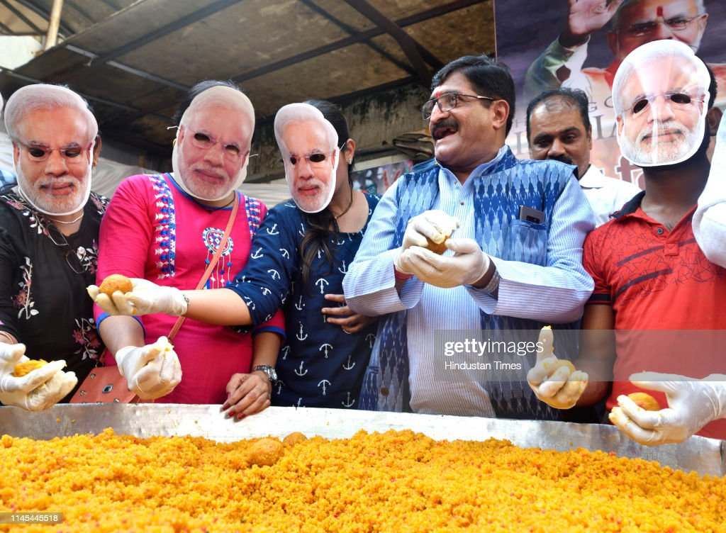 IND: BJP Party Worker Prepare Ladoos For May 23, Begins Prepping Up For Big Day