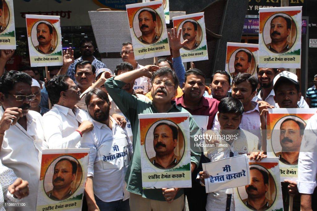 IND: People Protest Against Pragya Singh Thakur's Remarks Against Police Officer Hemant Karkare