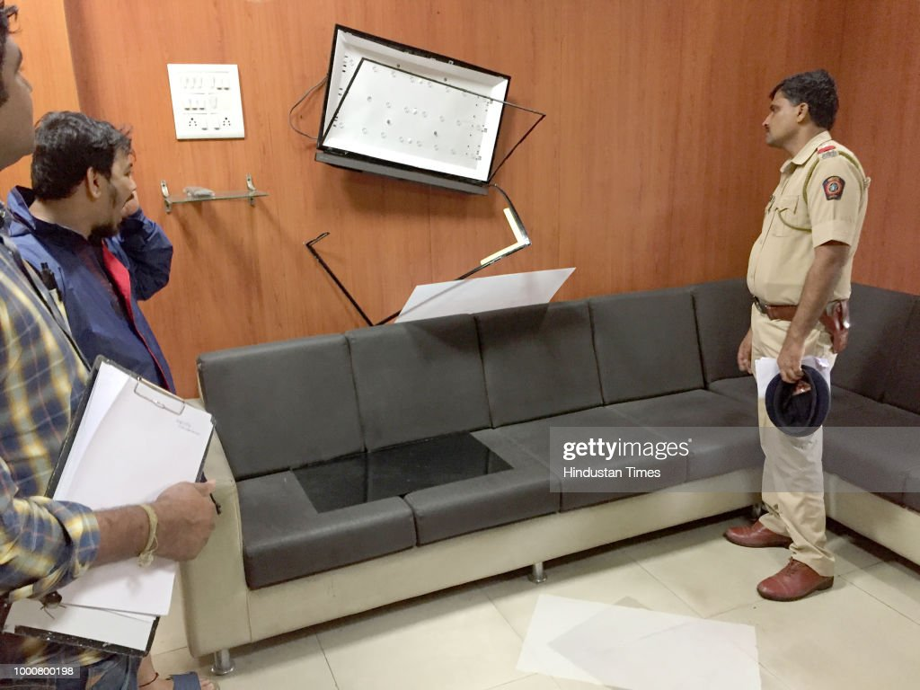 MNS Party Workers Vandalized PWD Office At Navi Mumbai