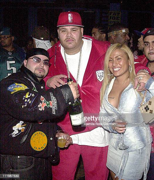 Partygoer Fat Joe and wife during Fat Joe's Party at Jimmy s Bronx Cafe in New York City New York United States