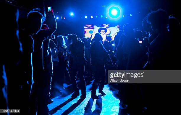 Partygoers celebrate at Brooklyn Bowl's weekly Soul Train inspired party on February 02 2012 in in Brooklyn New York City Don Cornelius the creator...