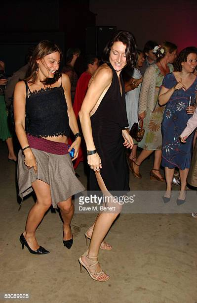 Partygoers dance as they attend the 'Tate Modern The Art Party' the fifth anniversary of the gallery and opening of the Frida Kahlo exhibition at the...