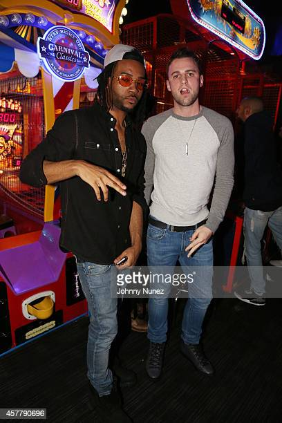 PartyNextDoor attends Drakes' Birthday Party at Dave Buster's Time Square on October 24 in New York City