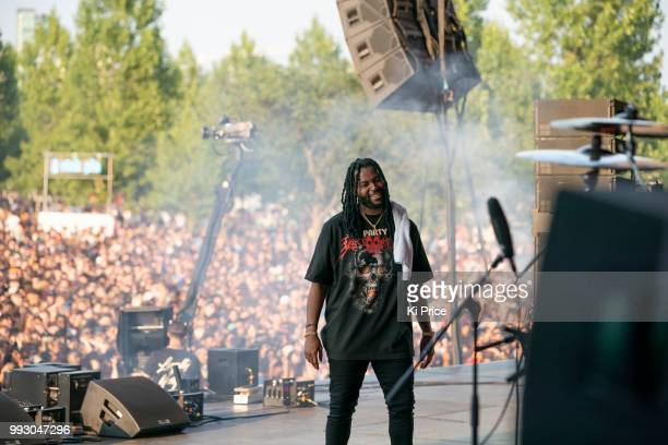 PartyNextDoor performs during Wireless Festival 2018 at Finsbury Park on July 6 2018 in London England
