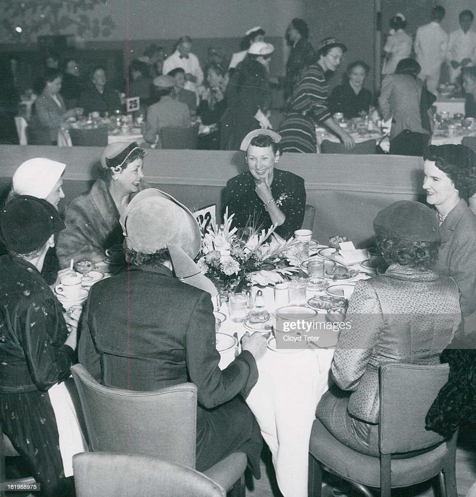 """SEP 28 1952; """"OFFICIAL PARTY""""-üttending the Denver Athletic club's fashion show luncheon on Tuesday  : News Photo"""