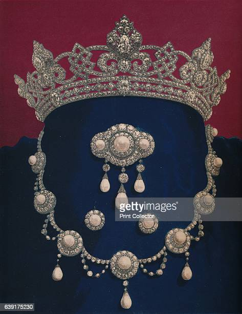 Parure of Diamonds and Pearls - The Gift of HRH The Prince of Wales', 1863. Albert Edward, Prince of Wales, the future King Edward VII, purchased a...