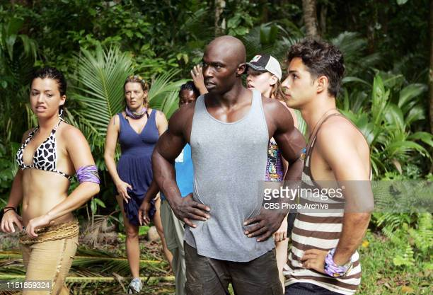 Parvati Shallow Ami Cusack Cirie Fields James Clement Amanda Kimmel and Ozzy Lusth during the first episode of Survivor Micronesia Fans vs Favorites