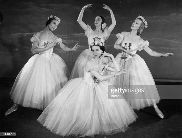 'Pas de Quatre' with ballerinas Tatiana Krassovskaya as 'Carlotta Grisi', Alexandra Danilova as 'Fanny Cerito', Tatiana Riabouchinska as' Lucille...