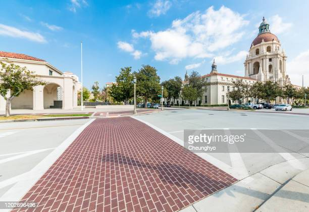 pasadena city hall, los angeles county, california - pasadena california stock pictures, royalty-free photos & images