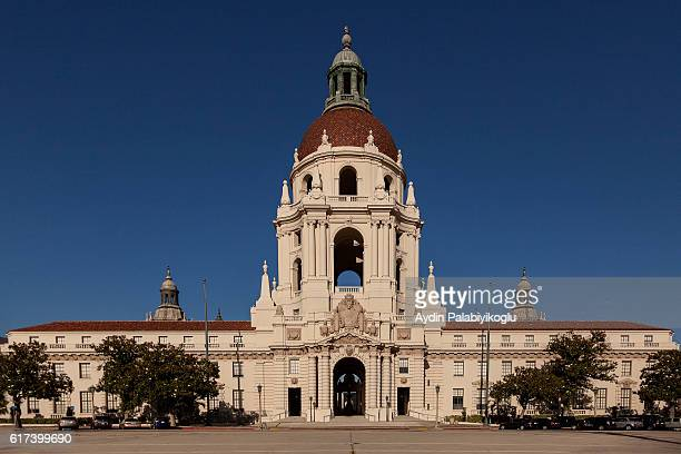 pasadena city hall - town hall government building stock pictures, royalty-free photos & images