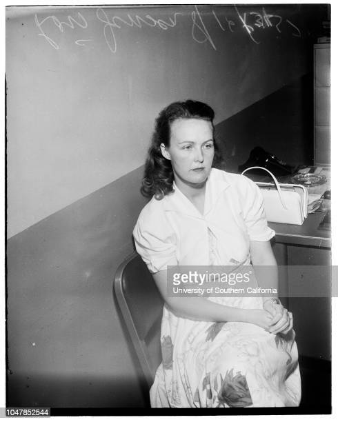 Pasadena Death Mystery 16 August 1955 Louis JensenCaption slip reads 'Daily Photographer Richardson Date Reporter Swaim Assignment Mystery death...