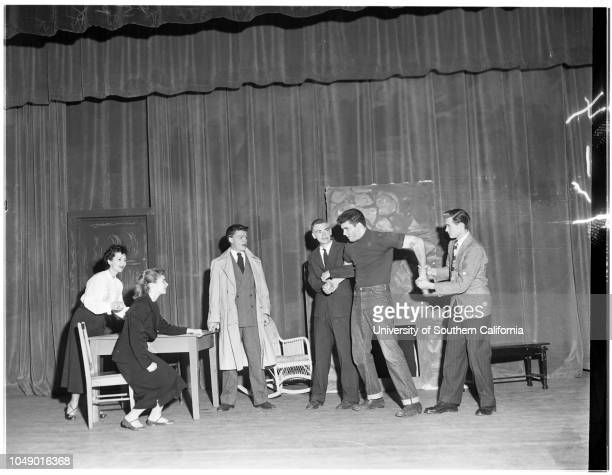 Pasadena playhouse One act play tournament MonroviaDuarte High School Whittier High School Pasadena City College High School Division 19 March 1952...