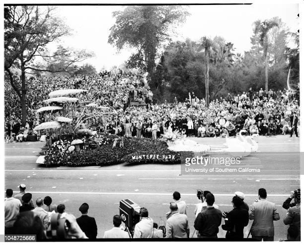 Pasadena Tournament of Roses Parade 1 January 1957 Theme prize winnerLong BeachSouth Pasadena 'DragonLos Angeles CountySweepstakes winnerSan...