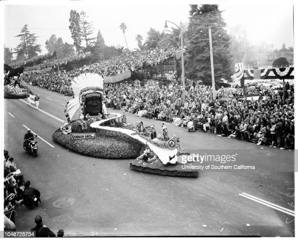 Pasadena Tournament of Roses Parade 1 January 1957 Theme prize winnerLong BeachSouth Pasadena 'DragonLos Angeles CountySweepstakes winnerSan...