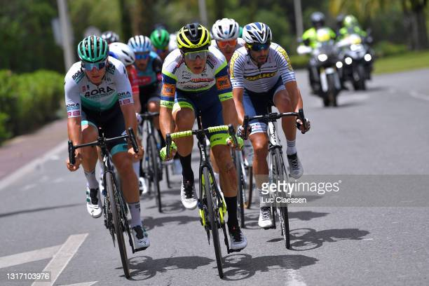 Pascal Ackermann of Germany and Team BORA - Hansgrohe, Danny Van Poppel of Netherlands and Team Intermarché - Wanty - Gobert Matériaux & Mauro...