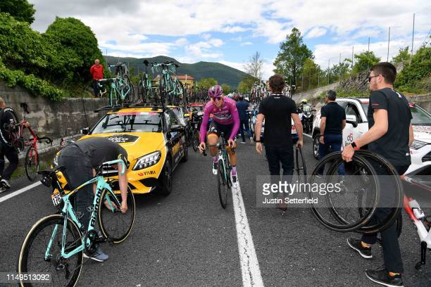 Pascal Ackermann of Germany and Team Bora - Hansgrohe Purple Points Jersey / Crash / Paul Martens of Germany and Team Jumbo - Visma / Bike / Mechanic...