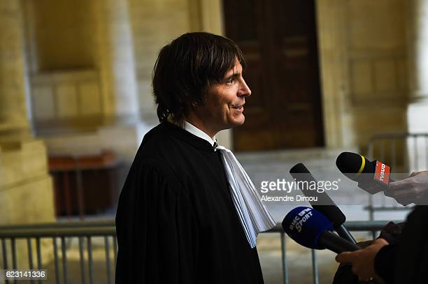 Pascal Adde Soubra lawyer during the trial of the Fabien Galthie dismissal with Montpellier Rugby Club on November 14 2016 in Montpellier France
