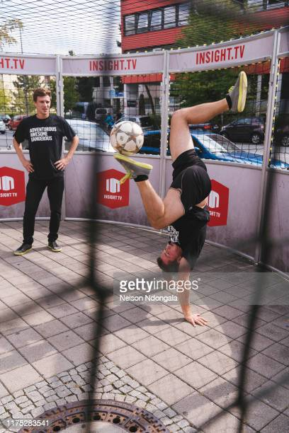 """Pascal Beausencourt and Nils Effinghausen perform during the launch event for Insight TV's new show """"Streetkings in Jail"""" on September 17, 2019 in..."""
