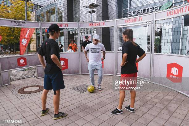 """Pascal Beausencourt, Edward van Gils and Aylin Raren perform during the launch event for Insight TV's new show """"Streetkings in Jail"""" on September 17,..."""