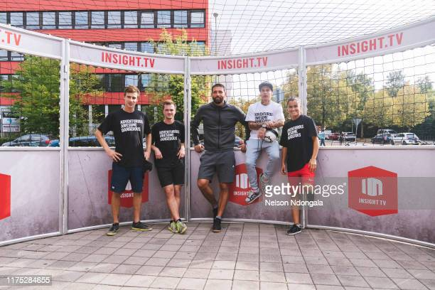 Pascal Beausencourt, Nils Effinghausen, Kevin Kuranyi, Edward van Gils, Aylin Raren pose for a picture during the launch event for Insight TV's new...