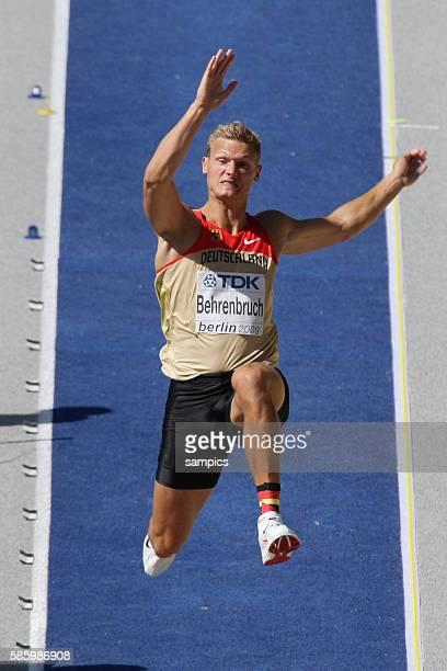 Pascal Behrenbruch of Germany at the long jump during the men's decathlon during the 2009 IAAF World Athletic Championships at the Olympic Stadium in...
