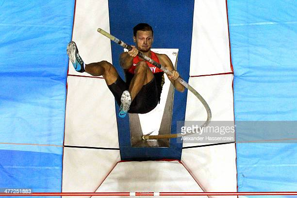 Pascal Behrenbruch of Germany competes in the Heptathlon pole vault during day two of the IAAF World Indoor Championships at Ergo Arena on March 8...