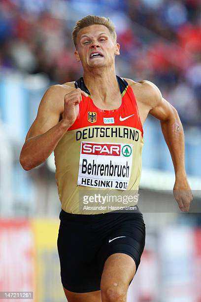 Pascal Behrenbruch of Germany competes in the Men's Decathlon 400 Metres during day one of the 21st European Athletics Championships at the Olympic...