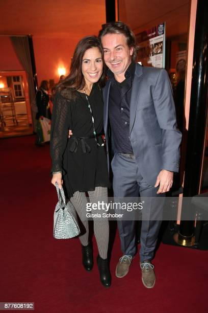 Pascal Breuer and his wife Loredana LaRocca during the 'Josef und Maria' premiere at 'Komoedie' theatre on November 22 2017 in Munich Germany