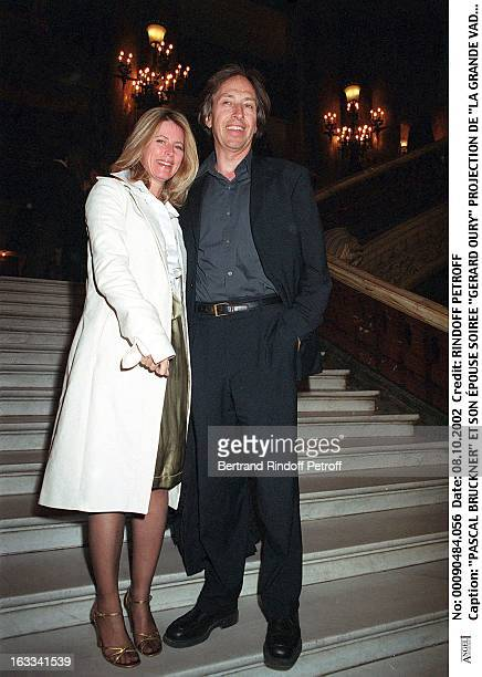 Pascal Bruckner and his wife 'Gerard Oury' film screening of 'La Grande Vadrouille' at the Garnier opera