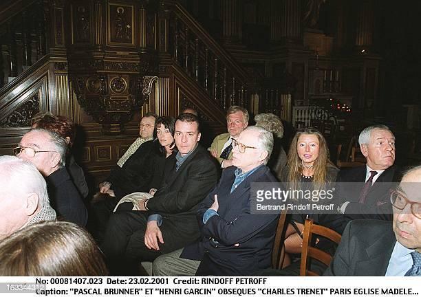 Pascal Brunner and Henri Garcin at Charles Trenet Funeral At Eglise Madeleine In Paris