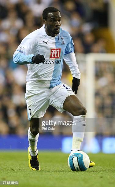 Pascal Chimbonda of Tottenham in action during the Barclays Premier League match between Tottenham Hotspur and Aston Villa at White Hart Lane on...