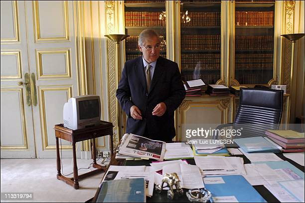 Pascal Clement Keeper Of The Seals In Its Office Of The Ministry For Justice On June 29Th 2005 In Paris France