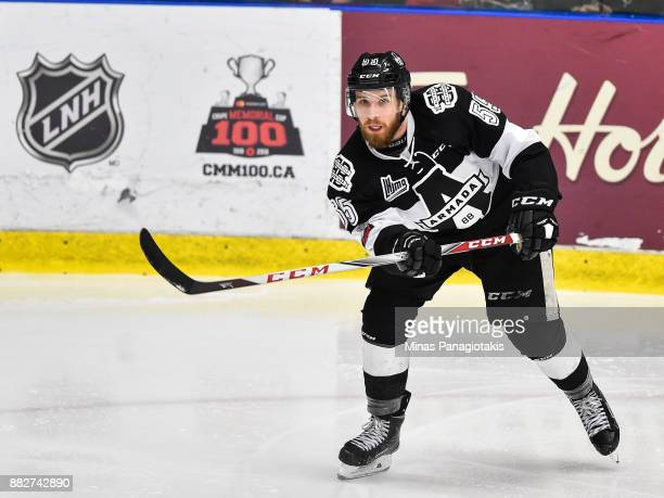 Pascal Corbeil of the BlainvilleBoisbriand Armada skates against the BaieComeau Drakkar during the QMJHL game at Centre d'Excellence Sports Rousseau...