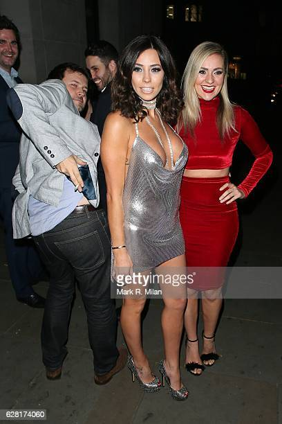 Pascal Craymer and Larissa Eddie at Radio bar on December 6 2016 in London England