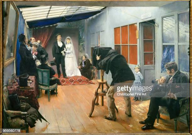 Pascal DagnanBouveret Wedding at the Photographer's Oil on canvas85 x 122 m Lyon Fine Art Museum