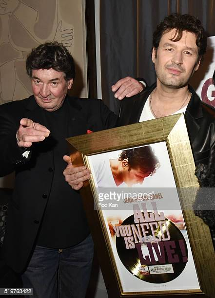 Pascal Danel and golden disc awarded singer Jean Pierre Danel attend 'Guitar Tribute' by Golden disc awarded Jean Pierre Danel at Hotel Burgundy on...