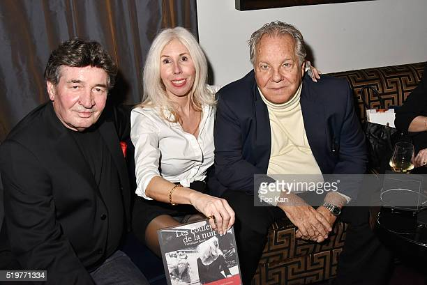 Pascal Danel Veronique Koch and Massimo Gargia attend 'Guitar Tribute' by Golden disc awarded Jean Pierre Danel at Hotel Burgundy on April 7 2015 in...