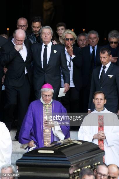 Pascal Desprez Anthony Delon actor Alain Delon and Veronique de Villele attend actress Mireille Darc's Funerals at Eglise SaintSulpice on September 1...