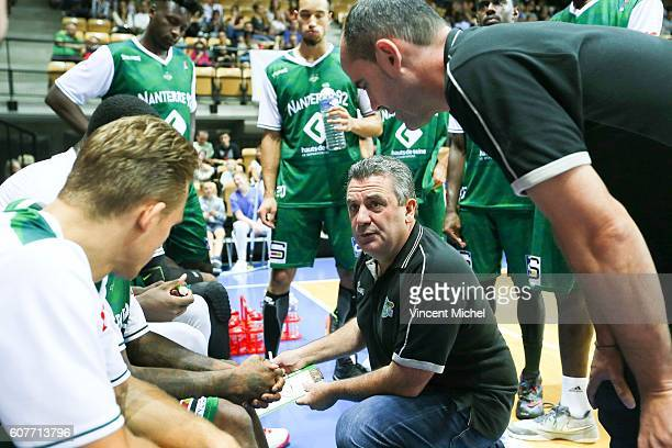 Pascal Donadieu head coach of Nanterre during the match for the 3rd and 4th place between Nanterre and Khimki Moscow at Tournament ProStars at Salle...