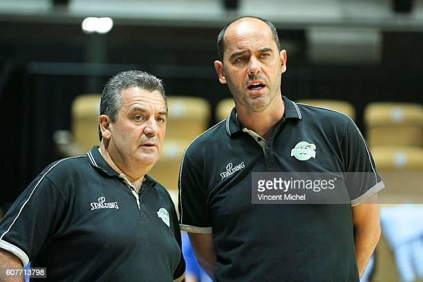 Pascal Donadieu headcoach of Nanterre and Franck Le Goff during the match for the 3rd and 4th place between Nanterre and Khimki Moscow at Tournament...